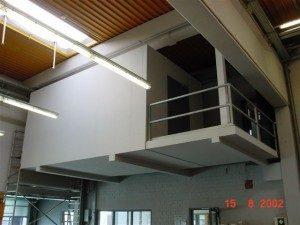 Verkleidung eines Serverraums mit Promat-Brandschutzbauplatten