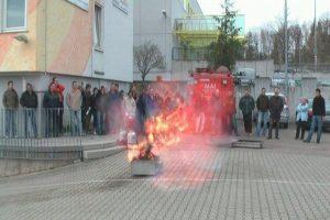 Feuerlöschübung