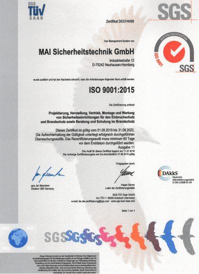DIN ISO 9001, 2019-2022