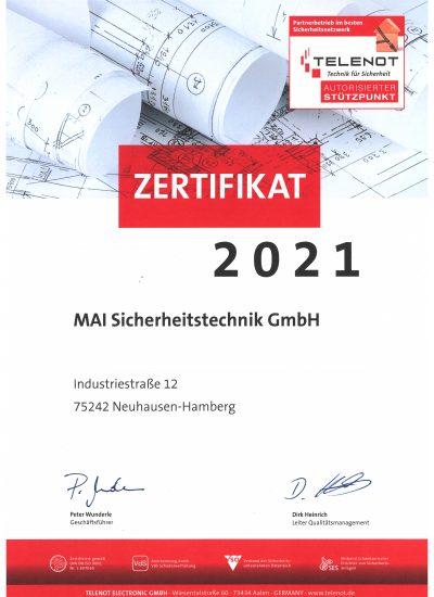 Autorisierter TELENOT-Stützpunkt 2021